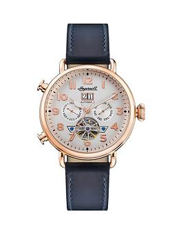 ingersoll-ingersoll-muse-silver-and-rose-gold-day-date-skeleton-eye-automatic-dial-navy-leather-strap-watch