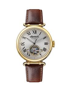 ingersoll-ingersoll-silver-and-gold-detail-skeleton-eye-automatic-dial-brown-leather-strap-watch