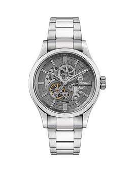 Ingersoll Ingersoll Ingersoll Armstrong Grey And Silver Detail Skeleton  ... Picture