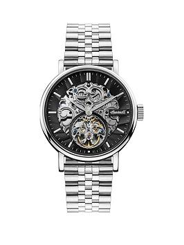 Ingersoll Ingersoll Ingersoll Charles Black And Silver Detail Skeleton  ... Picture