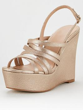 V by Very V By Very Davina Strappy High Wedge - Gold Picture