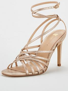 V by Very V By Very Betina Strappy Tie Leg Sandal - Gold Picture