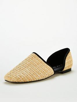 V by Very V By Very Madora Square Toe 2 Part Flat - Natural Picture