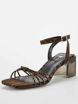 V by Very V By Very Blix Perspex Heel Square Toe Sandal Picture