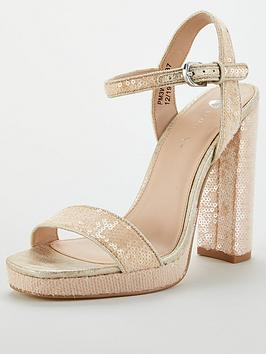 V by Very V By Very Bree Platform Sequin Sandal Picture