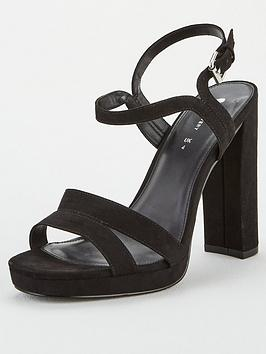 V by Very V By Very Briony Wide Fit Platform Sandal - Black Picture