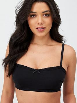 Pour Moi Pour Moi Shadow Strapless Underwired Bandeau - Black Picture