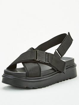 V by Very V By Very Madina Wide Fit Sporty Hiking Sandal - Black Picture
