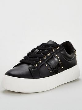 V by Very V By Very Abby Studded Side Stripe Trainer Picture
