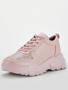 V by Very V By Very Adia Colourflood Chunky Trainer - Pink Picture