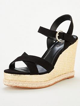 V by Very V By Very Covered Wedge Sandal - Black Picture