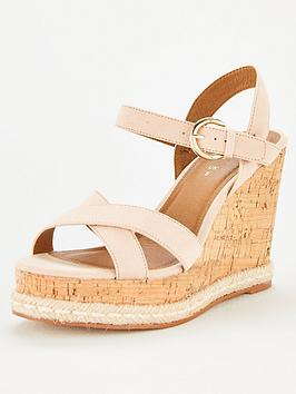 V by Very V By Very Deeta Covered Wedge Sandal - Nude Picture