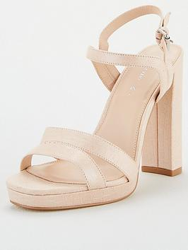 V by Very V By Very Briony Wide Fit Platform Sandal - Natural Picture