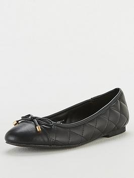 V by Very V By Very Melissa Toe Cap Ballerina Shoes - Black Picture