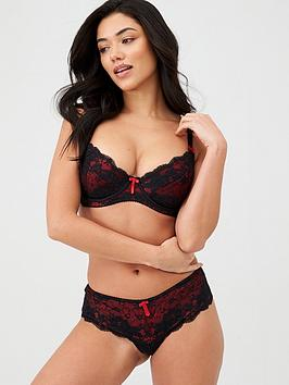 Pour Moi Pour Moi Amour Underwired Non Padded Bra - Black Scarlet Picture