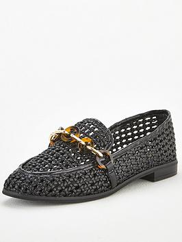 V by Very V By Very Mase Chain Basket Weave Loafer - Black Picture