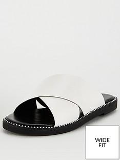 v-by-very-hara-wide-fit-cross-strap-slider-white