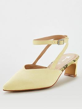 V by Very V By Very Cacey Low Heel Strappy Point Shoe - Yellow Picture