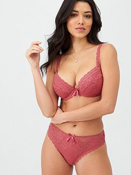 Pour Moi Pour Moi Rebel Padded Plunge Bra - Raspberry Picture