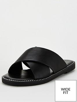 v-by-very-wide-fit-cross-strap-slider-black