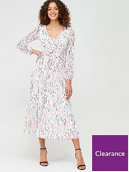 v-by-very-ruched-front-pleat-skirt-midi-dress-print