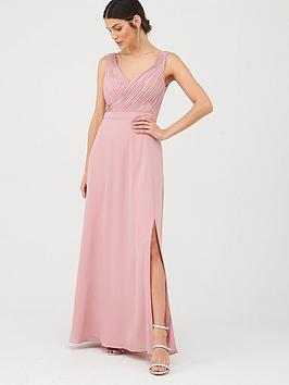 V by Very V By Very Bridesmaid Pleated Bust Maxi Dress Picture
