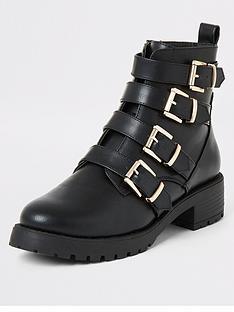 river-island-river-island-chunky-buckle-biker-boots-black