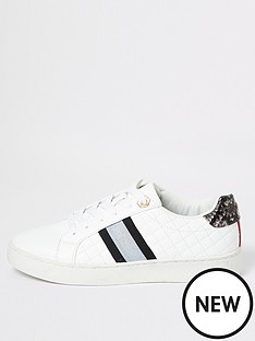 river-island-river-island-quilted-lace-up-trainers-white