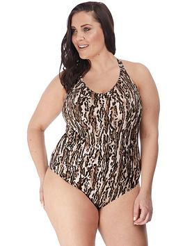 Elomi Elomi Elomi Fierce Animal Print Moulded Swimsuit Picture