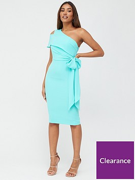 v-by-very-one-shoulder-structured-bodycon-dress-blue