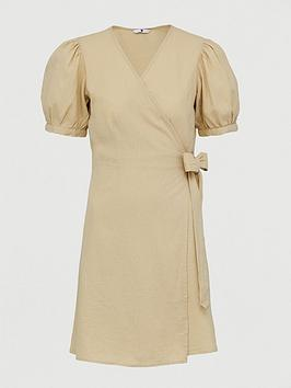V by Very V By Very Linen Wrap Dress Picture