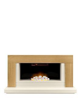 Adam Fires & Fireplaces   Adam Carrera Fire Suite In Oak & Cream