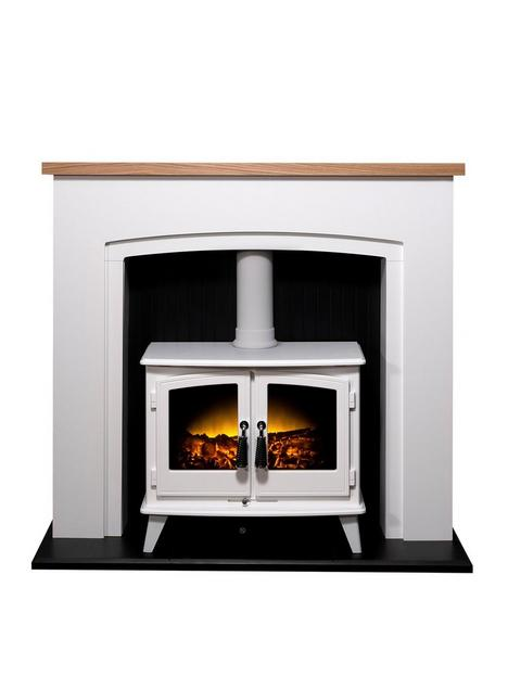 adam-fires-fireplaces-adam-siena-stove-suite-in-pure-white-amp-oak-with-woodhouse-electric-stove-in-white