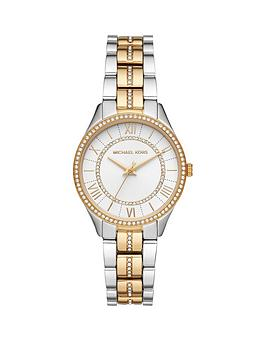 Michael Kors Michael Kors Mk4454 Lauryn Silver And Gold Detail Dial Two  ... Picture