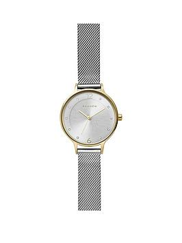 skagen Skagen Silver Sunray And Gold Detail Dial Stainless Steel Mesh  ... Picture