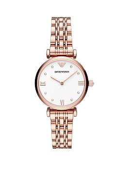 Emporio Armani Emporio Armani Emporio Armani White Dial Rose Gold  ... Picture