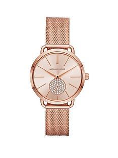 michael-kors-michael-kors-blush-sunray-dial-rose-gold-stainless-steel-mesh-strap-ladies-watch