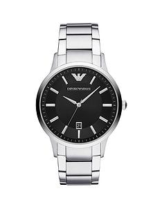 emporio-armani-black-dial-stainless-steel-bracelet-mens-watch