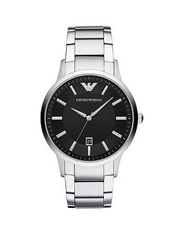 Emporio Armani Emporio Armani Emporio Armani Black Dial Stainless Steel  ... Picture