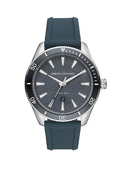 Armani Exchange Armani Exchange Armani Exchange Blue And Silver Detail  ... Picture