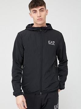 EA7 Emporio Armani Ea7 Emporio Armani Core Id Logo Hooded Jacket - Black Picture