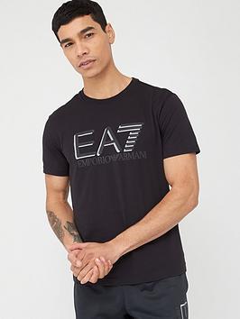 EA7 Emporio Armani Ea7 Emporio Armani Visibility Logo T-Shirt - Black Picture