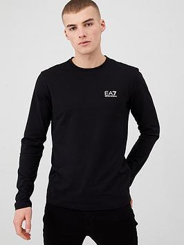 EA7 Emporio Armani Ea7 Emporio Armani Core Id Logo Long Sleeve T-Shirt -  ... Picture