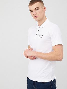 EA7 Emporio Armani Ea7 Emporio Armani Core Id Logo Polo Shirt - White