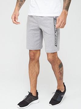 EA7 Emporio Armani Ea7 Emporio Armani Extended Logo Jersey Shorts - Grey Picture