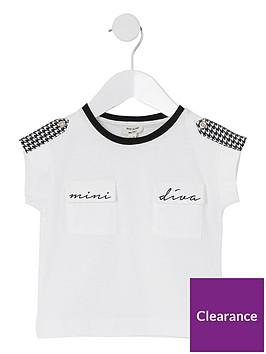 river-island-mini-girls-mininbspdivanbspdogtooth-check-t-shirt--nbspwhite