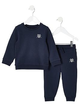 River Island Mini River Island Mini Mini Boys Rvr Sweatshirt And Jog Pant  ... Picture