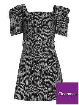 river-island-girls-zebra-print-skater-dress-silverblack