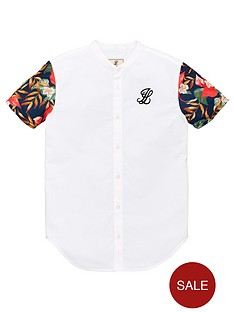 illusive-london-boys-floral-contrast-sleeve-short-sleeve-shirt-white