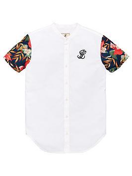 illusive-london-boys-floral-contrast-sleeve-short-sleeve-shirt-white